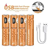 Best Usb Rechargeable Batteries - AAA Batteries,USB Rechargeable AAA Batteries 450mAh with USB Review