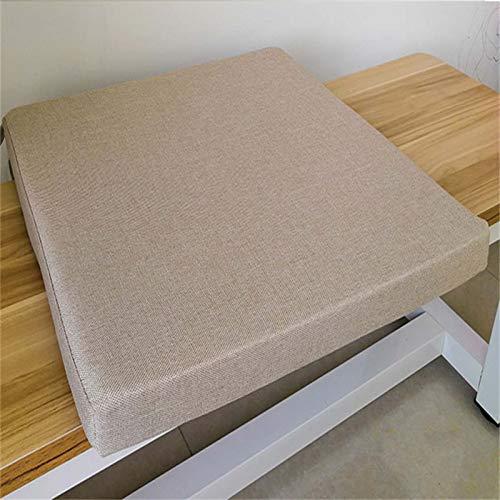 SAFAJINHH Impermeable Cojín De Silla De Banco,Cojín De Banco Rectangular Cojín De La Ventana De La Bahía,Espuma Settee Cushion Chaise Lounge Cojín-Beige 100x30x5cm