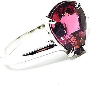 Magnifico anello con magnifica Tormalina Rosa/Rossa naturale misura 10 mm x 7,4 mm e 2,8 carati, realizzato interamente a ...