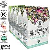 THE TEA SPOT, Organic Green Tea Sampler: 20 generous single-serving...