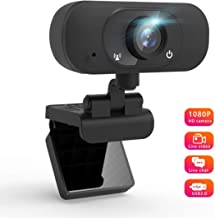 Webcam 1080p, Computer Camera with Microphone, Manual Focus Desktop Laptop Camera, Web Cameras for Video Calling Recording Conferencing,90 Extended View