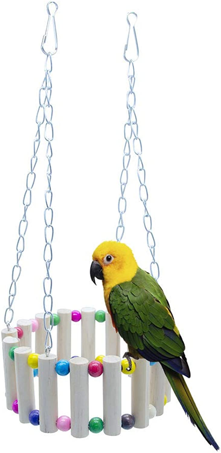 Birds Cage Toy Hamster Climb Ladder Fence Fence Parred Toy Decorative Accessories for Small Parakeet Cages