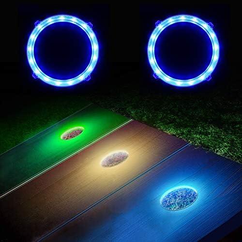 Mofeez Cornhole LED Lights Ultra Bright Cornhole Board Night Light for Family Backyard Bean product image