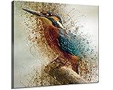 BeColor Wall Art - Cuadro Decorativo Abstracto de Pájaros, Pintado a Mano, Textura...