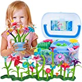 BIRANCO. Flower Garden Building Set - Grow up! Fun Stacking Toys for Toddlers and Kids Age 3-6 Year Olds, Educational Activity for Preschool, Cool STEM Gardening Gifts for Girls (138 PCS)