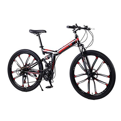 VTT pliable 21 vitesses, pour vélo de 24 pouces, double freins à disque, pour l'environnement urbain et trajets vers et depuis le travail