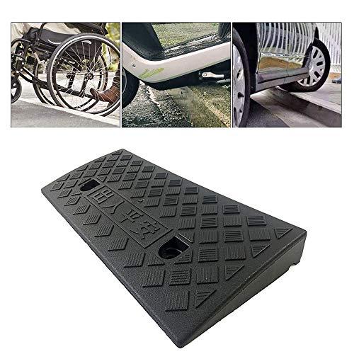 Roboraty Tragbare Bordsteinrampe, professionelle Laderampe, Auto-Motorrad-Auffahrrampe, Ladedock,Black-H(7cm)