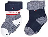 Tommy Hilfiger Th Baby Sock 2p Fold Over calcetines, tommy original, 15-18 (Pack de 2) para Bebés