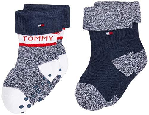Tommy Hilfiger Th Baby Sock 2p Fold Over calcetines, tommy original, 15-18 (Pack de 2) para Bebés