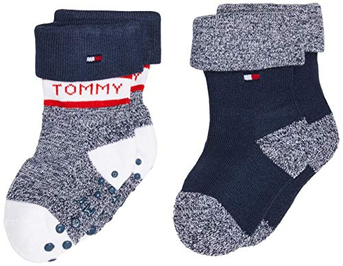 Tommy Hilfiger unisex-baby TH 2P FOLD OVER Socks, tommy original, 19-22 (2er Pack)
