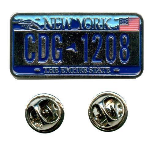 New York NY Autokennzeichen USA Bundesstaaten Badge Edel Pin Anstecker 0643 A