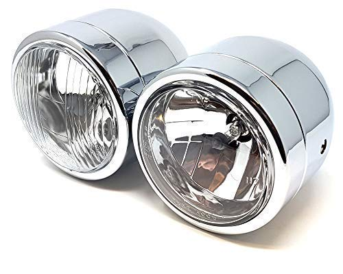 Koplamp motorfiets Dominator Tracker Streetfighter Chrome Dual Twin Homologated