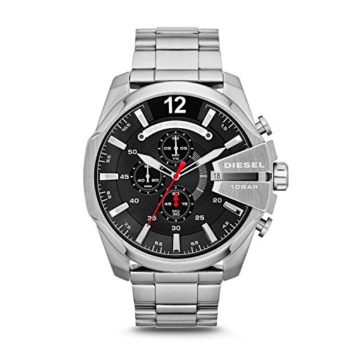 Diesel Herren Chronograph Quarz Uhr mit Edelstahl Armband DZ4308