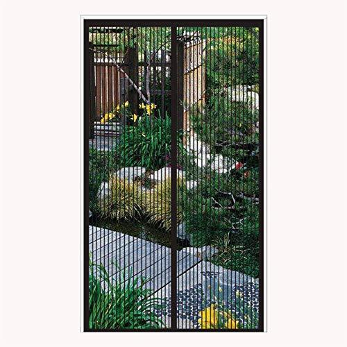 ERPENG Fliegennetz Vorhang 190x260cm Magnetverschluss faltbar Fliegenvorhang Vorhang einfach zu montieren Ohne Bohren für Balkontür Wohnzimmer Terrassentür, Schwarz