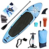 Backboards 118x31x6inch Inflatable Surfboarding,Premium Complete Accessories Stand Up Paddle Board,Non-Slip Easy to Carry Wakeboard Kayak,Blue