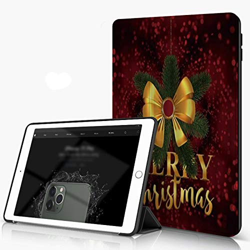 Case for iPad 10.2 Inch, iPad 7./8. Generation shell Merry Christmas Fir Tree and Snowman in Snowy Landscape, Slim Lightweight Stand Protective Case for iPadr,Auto Wake/Sleep