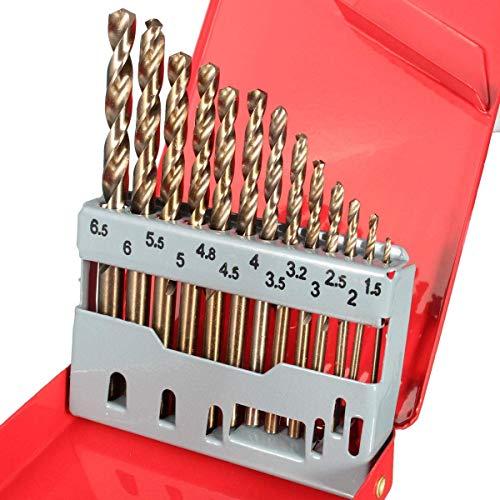 LKK-KK HSS Drilling Bits Twist Drill Bit 13PCS with Box Titanium Nitride Coated 1.5-6.5mm Bits Set Drill Bits