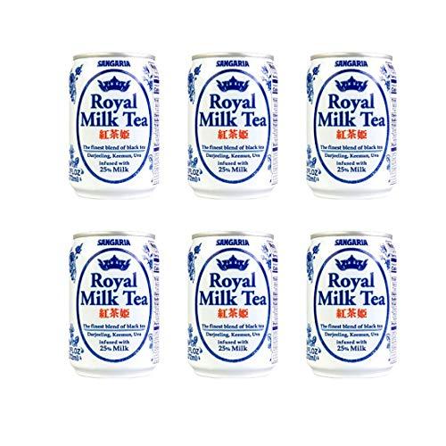 Japanese Sangaria Rich and Creamy Royal Milk Tea Can 9.2 fl oz (6 Pack)