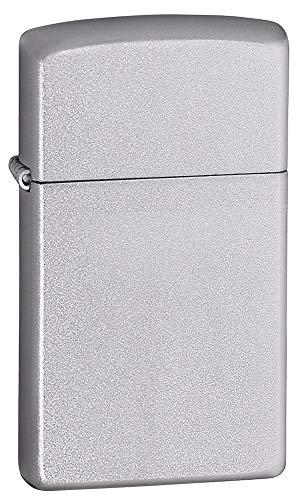 Zippo Accendino ricaricabile originale,Cromo Opaco Slim 1605