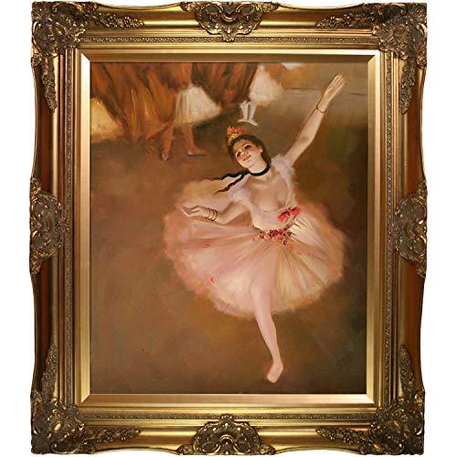 overstockArt Star Dancer (On Stage) by Edgar Degas Oil Painting, 32