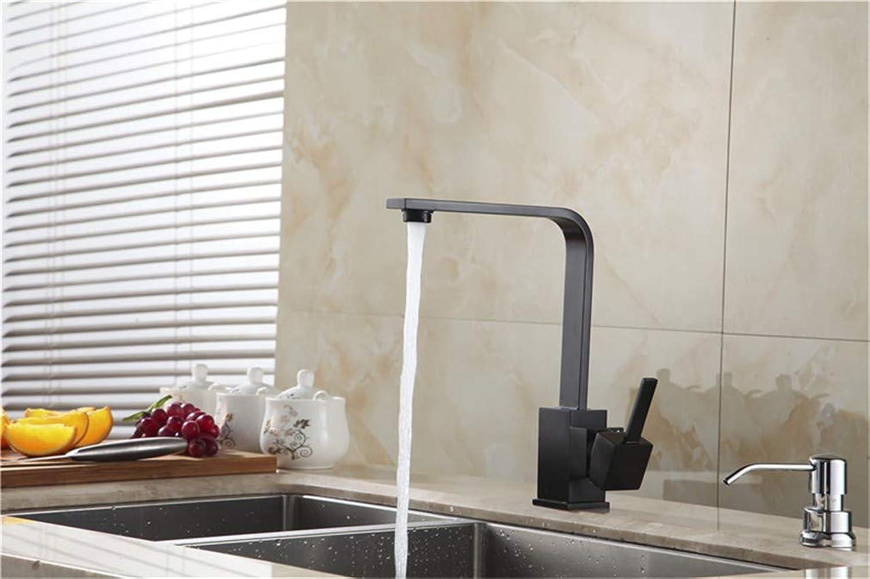 Tap Mixer Kitchen Sink Taps Kitchen Faucets Brass Kitchen Sink Water Faucet 360 redate Swivel Faucet Mixer Single Holder Single Hole Black Mixer Tap