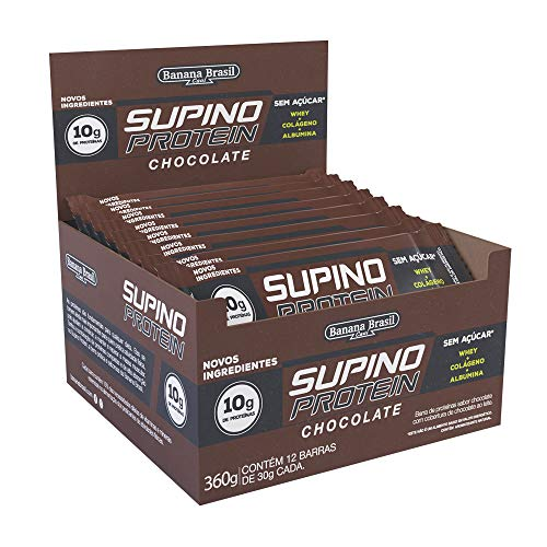 Barra de Proteínas Chocolate Banana Brasil com 12 Unidades de 30g