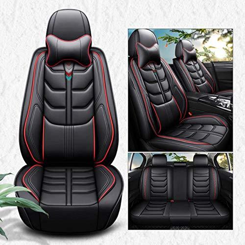 Hunulu Coprisedili per Auto Universali di Alta qualità per BMW E30 E34 E36 E39 E46 E60 E90 F10 F30 X3 X5 X6 X1 / 2/3/4/5/6 Auto, Nero Rosso Lusso