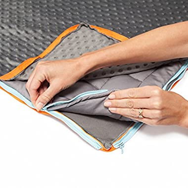 15lb Weighted Blanket & 2 FREE COVERS (MINKY & COTTON) For Adults & Kids | Heavy Gravity Blanket Helps ADHD, Autism, Insomnia, Sensory Disorder, Stress | Anxiety Blanket | Heavy Queen Blanket | 60x80