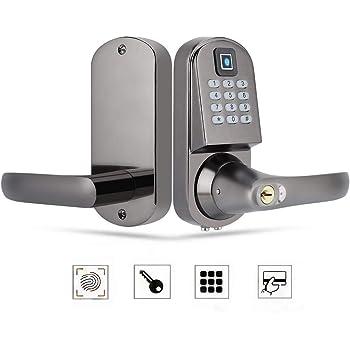 Cerradura de Teclas mec/ánicas Tarjeta de contrase/ña Teclado de pantalla t/áctil para el hogar S201 Cerradura inteligente de huellas dactilares Cerradura Electr/ónica