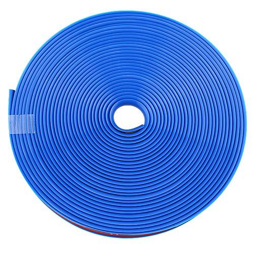 Moolo Anillo Protector De Borde De Llanta Raya del Cubo De La Rueda Línea De Decoración del Automóvil Tira De Goma Prevención De Rayones(Color:Azul)
