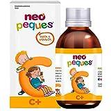 Neo Peques - Jarabe Infantil Vitamina C y Zinc Para Niños | Complemento Natural C+ Con Sabor a Naranja de 150ml | Dosis Diaria 10 ml | Refuerza el Sistema Inmunológico | Para Mayores De 12 meses