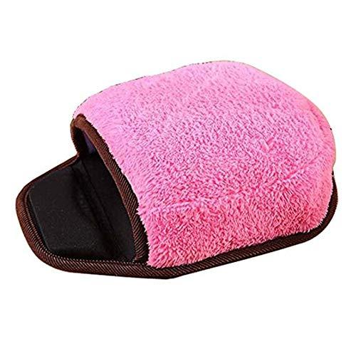 Liangzai Beheiztes Mauspad, elektrisch beheiztes USB-Mauspad mit Schaumstoff-Handgelenkstütze, Komfortables rutschfestes, abnehmbares und waschbares Winterwärmepad