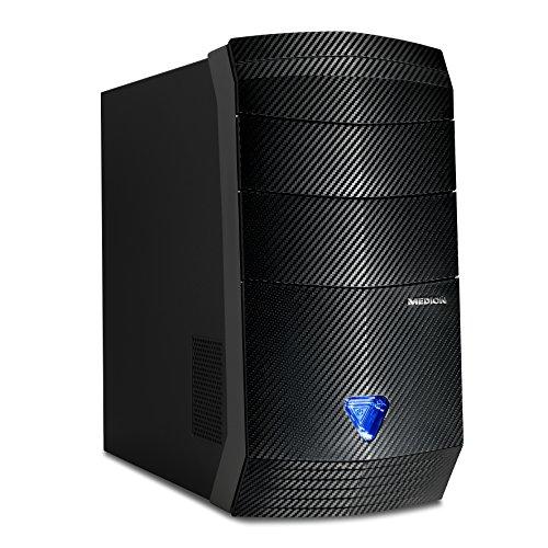 MEDION ERAZER P3615 D - Ordenador de sobremesa (AMD Ryzen 5 1400, 8 GB de RAM, HDD de 1 TB + SSD de 128 GB, NVIDIA GeForce GTX 1050 Ti de 4.096 MB, Windows 10 Home), color negro