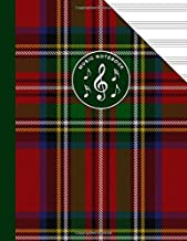 Scottish Tartan Music Manuscript Notebook Clan Stewart: Blank Sheet Music Paper For Celtic Musician, Orchestra, Band, Fiddle Camp, Session Tunes