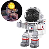 Astronaut Mini Building Blocks Micro Building Kits for Kids and Adults 12-15 Space Toys with Led Lighting Kit - Compatible with Nano(1008 Pieces)