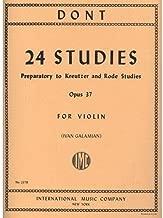 Dont Jakob 24 Studies Op. 37 Preparatory to Kreutzer Rode Studies Violin solo Ivan Galamian
