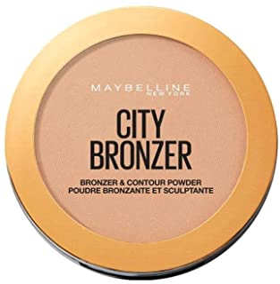 Maybelline New York City Bronzer puder brązujący do twarzy, bronzer do konturowania, 200 Medium Cool – średni chłodny brą...