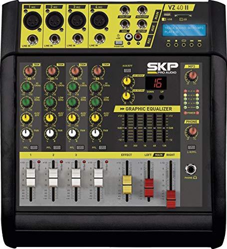 Mesa de Som Amplificada 4 Canais 400W com MP3, Entrada USB, com Efeitos VZ-40A II, skp, 24725