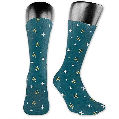VVGETE Women'S Fashion Socks,Star And Stripes Men Womens Thin High Ankle Casual Socks Fit Outdoor Hiking Trail 40Cm