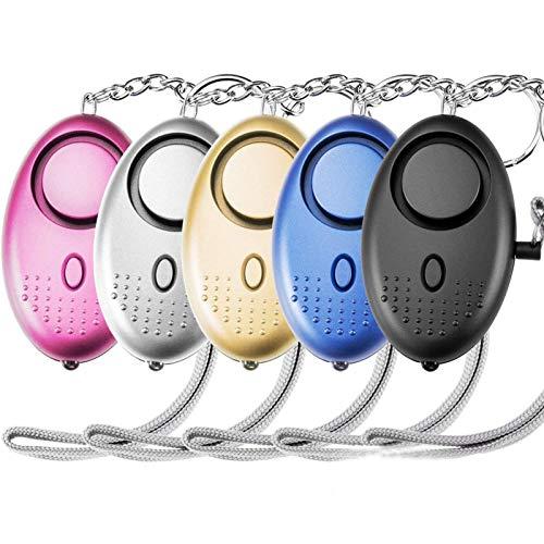 YUACY Llavero de alarma personal 140db recargable fuerte alarma de seguridad llavero con luz LED pequeña alarma de seguridad personal para mujeres niñas y ancianos