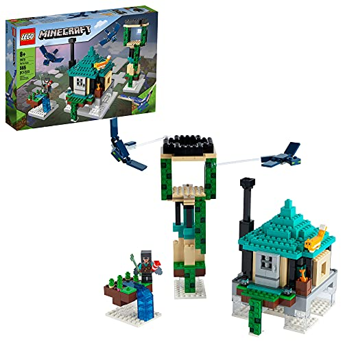 LEGO Minecraft The Sky Tower 21173 Fun Floating Islands Building Kit Toy with a Pilot, 2 Flying Phantoms and a Cat; New 2021 (565 Pieces)