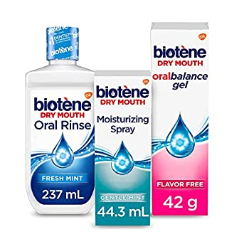 Biotene Dry Mouth Management Oral Rinse Dry Mouth Spray and Moisturizing Gel Kit 1 Count
