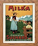 L Lumartos Vintage Poster Milka Modern Home Decor Wall Art