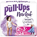 Pull-Ups New Leaf Girls' Potty Training Pants Training Underwear, 2T-3T, 124 Ct from Kimberly-Clark Corp.