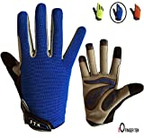 Cycling Gloves Kids Boys Girls Youth Full Finger Pair Bike Riding, Children Toddler Touch Screen Mountain Road...