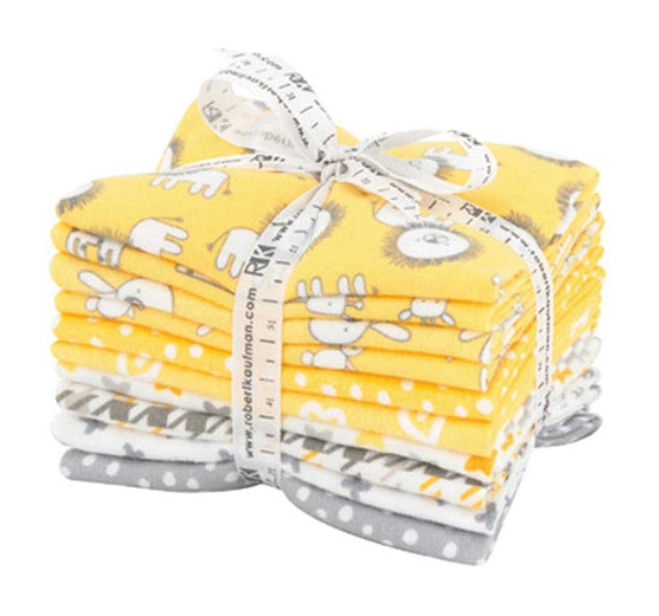 Penned Pals Flannel Fat Quarter Bundle 10 Precut Cotton Fabric Quilting FQs Assortment Yellow Colorstory by Ann Kelle for Robert Kaufman