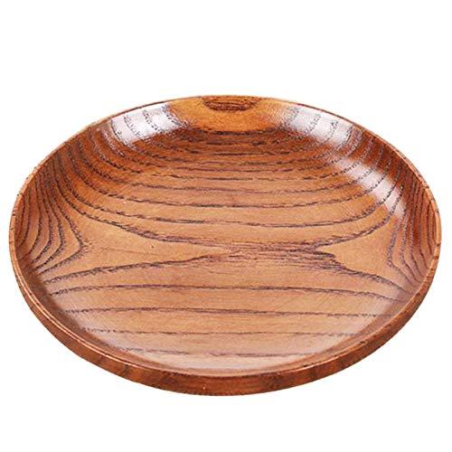 TOOGOO Vaisselle Plateau Assiette de Pain en Bois Lisse de Ménage Ustensiles de Cuisine Plaque D'Assaisonnement Ronde