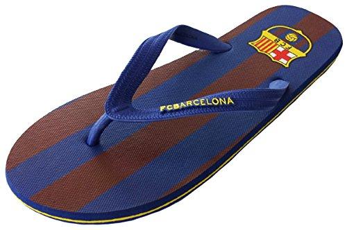 Chanclas Barça - Colección oficial FC Barcelona para hombre, talla adulto, multicolor (multicolor), 43-44