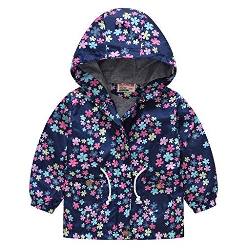 H.eternal(TM) 2 – 8 años para niños pequeños y niñas, niñas, con capucha, cierre a prueba de viento, ropa de bebé, abrigos, ropa de bebé, chaqueta para niño