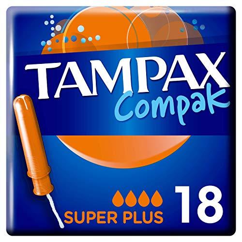 Tampax Compak Super+ Tampons mit Applikator 18x, Auslaufschutz und Diskretion, fühlen Sie sich sauber